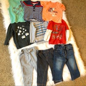 Lot of 9 18 month boy clothes